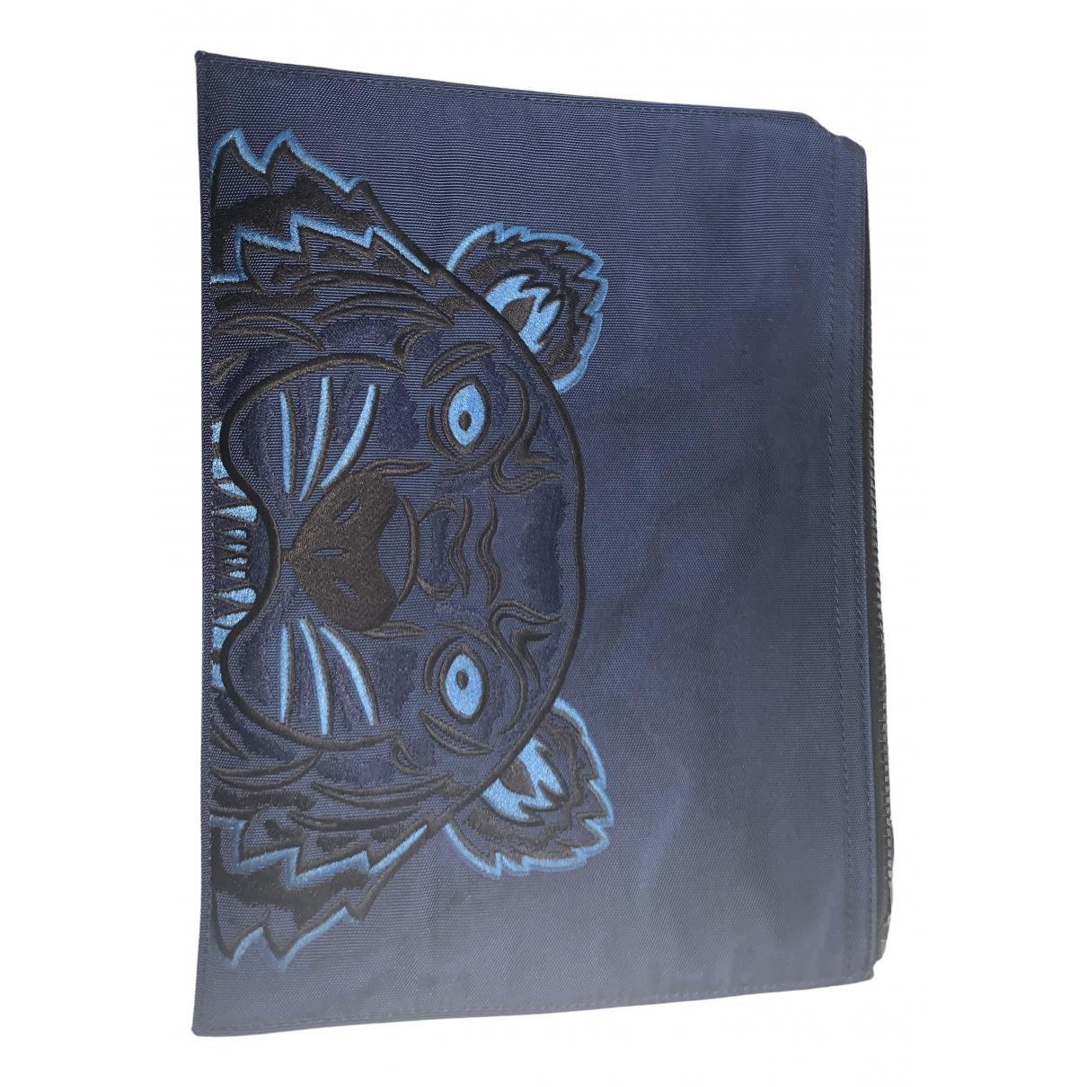 Kenzo - Pochette   pour femme en toile - bleu