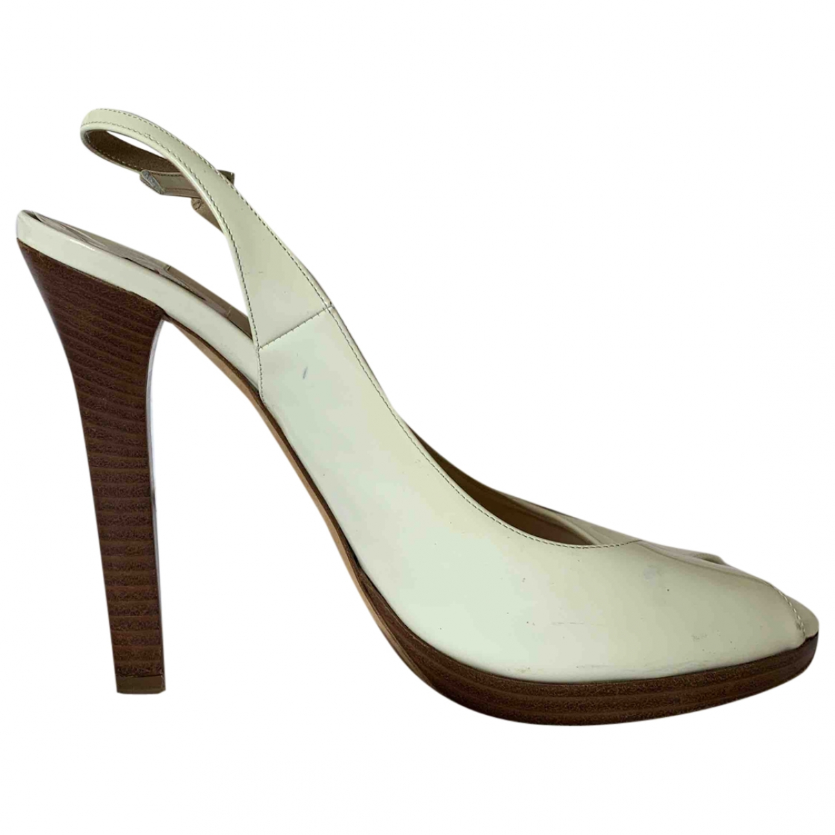 Jimmy Choo Esme White Patent leather Heels for Women 40 EU