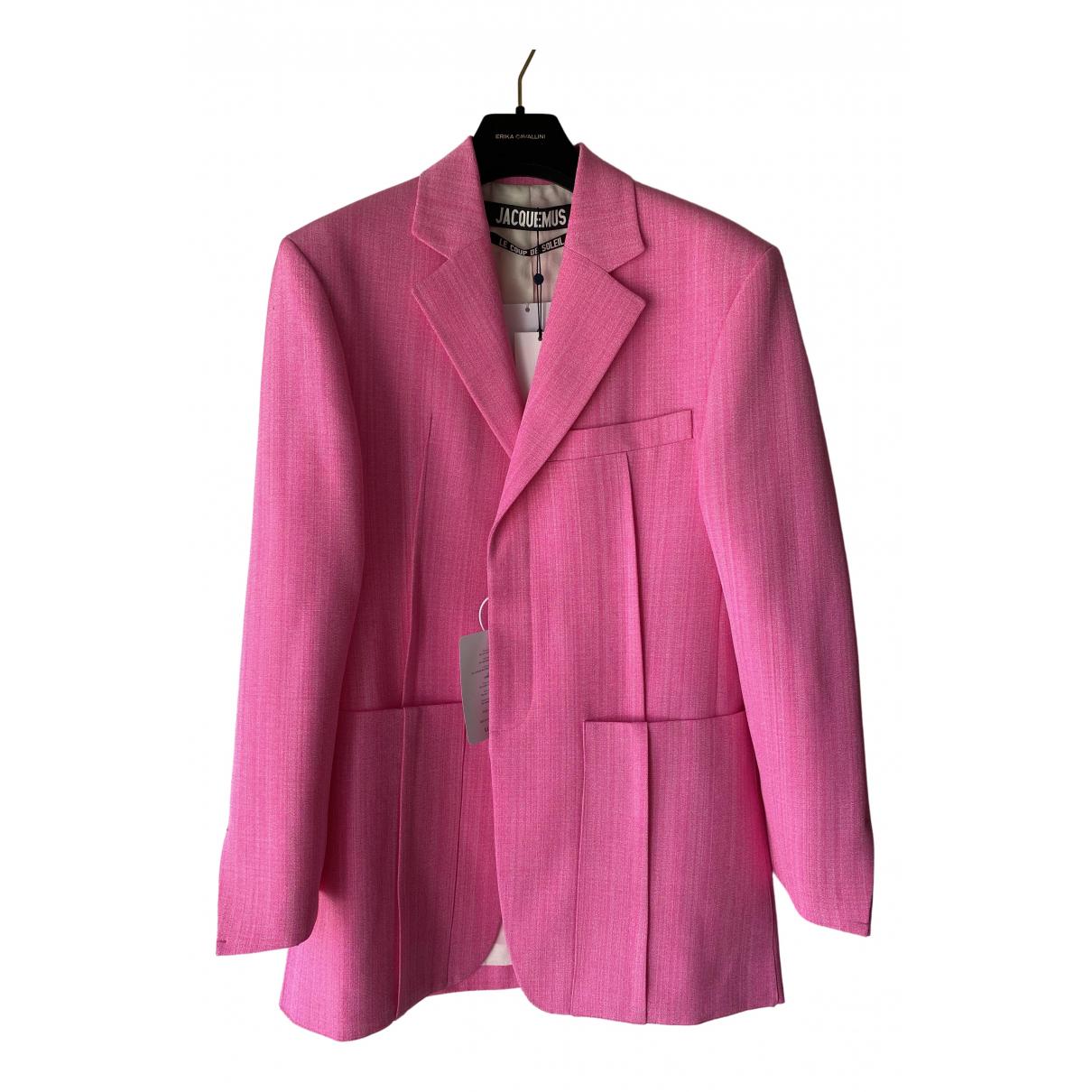 Jacquemus Le coup de soleil Pink jacket for Women 34 FR