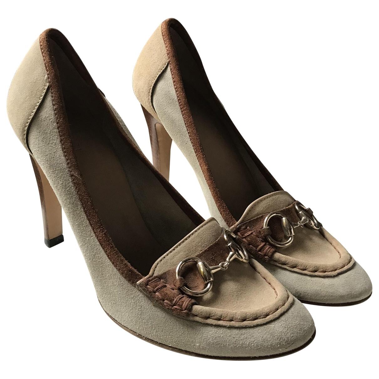 Gucci - Escarpins   pour femme en suede - beige