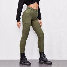Slant Pocket Skinny Jeans