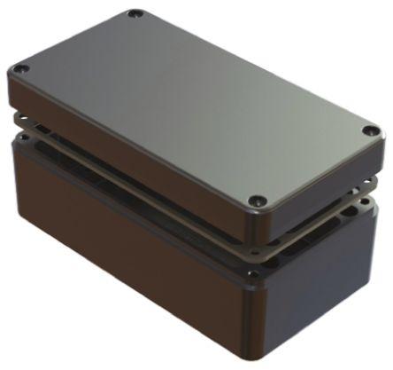 Deltron 486, Natural Aluminium Enclosure, IP68, Shielded, 220 x 120 x 90mm