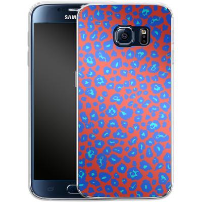 Samsung Galaxy S6 Silikon Handyhuelle - Bright Leopard Print von caseable Designs