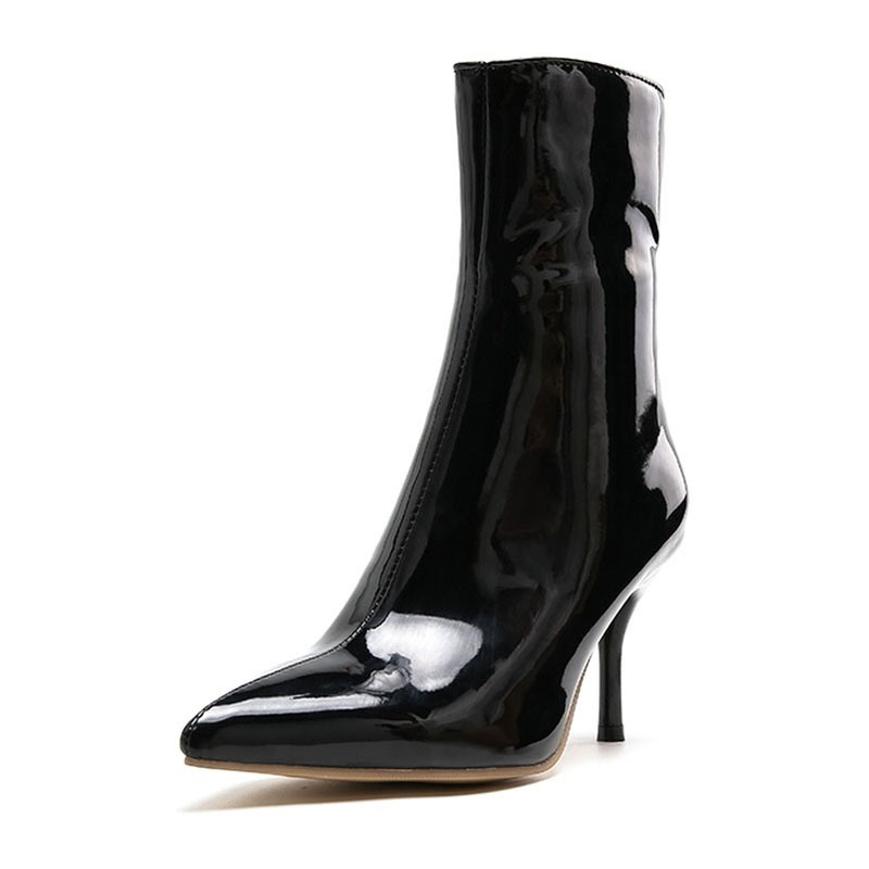 Ericdress Plain Zipper Stiletto Heel Stiletto Heel Women's Ankle Boots