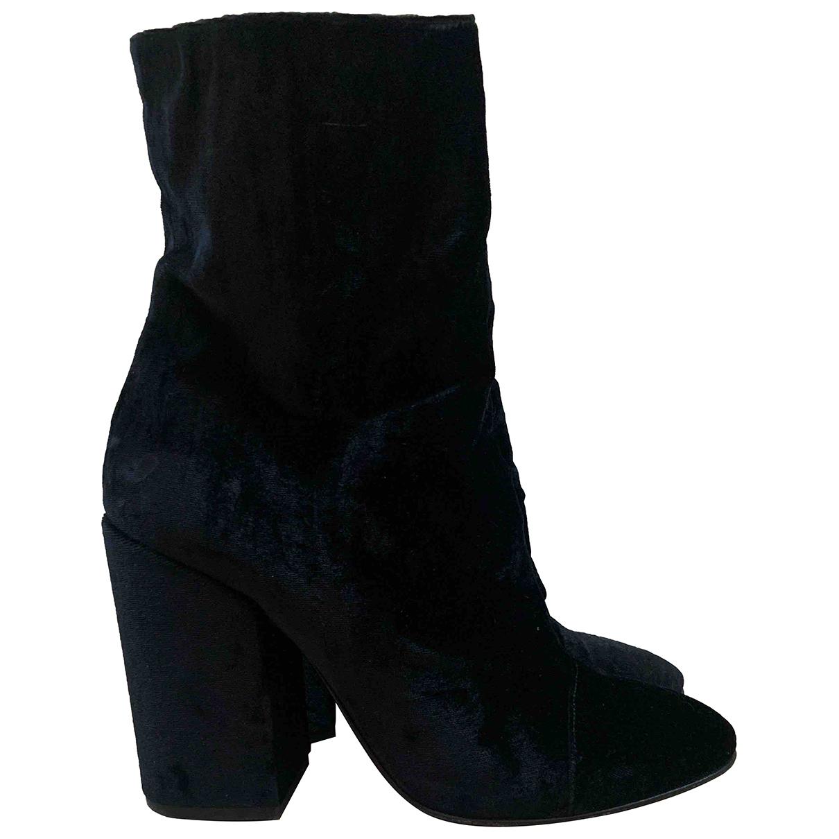 Dries Van Noten - Boots   pour femme en velours - noir