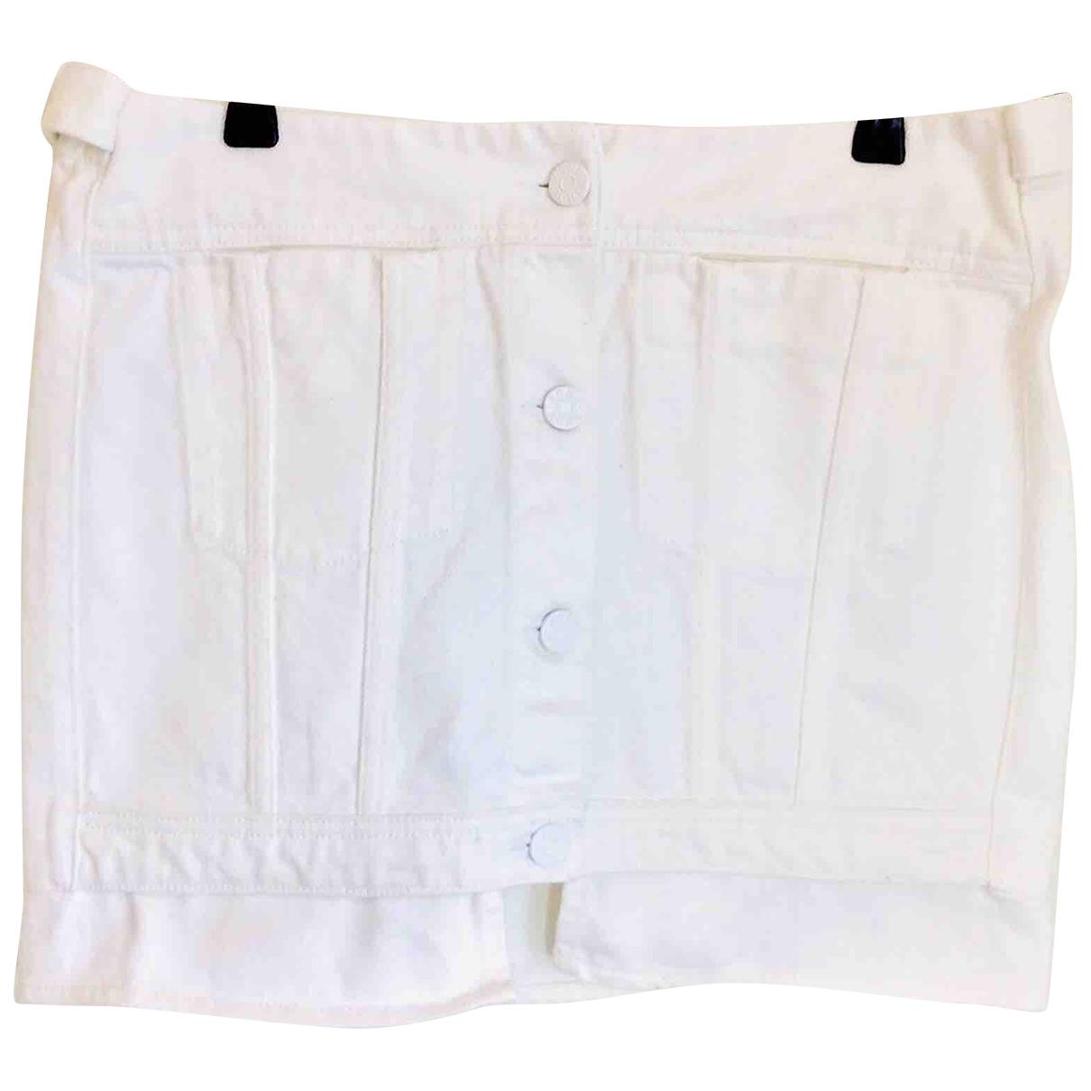 Acne Studios - Jupe   pour femme en coton - blanc