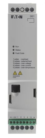 Eaton Variable Speed Starter, 1-Phase In, 60Hz Out 0.25 kW, 230 V ac, 1.4 A DE11
