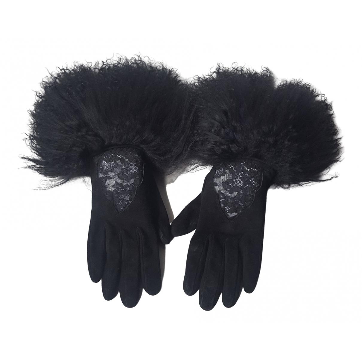 Dior \N Black Leather Gloves for Women S International