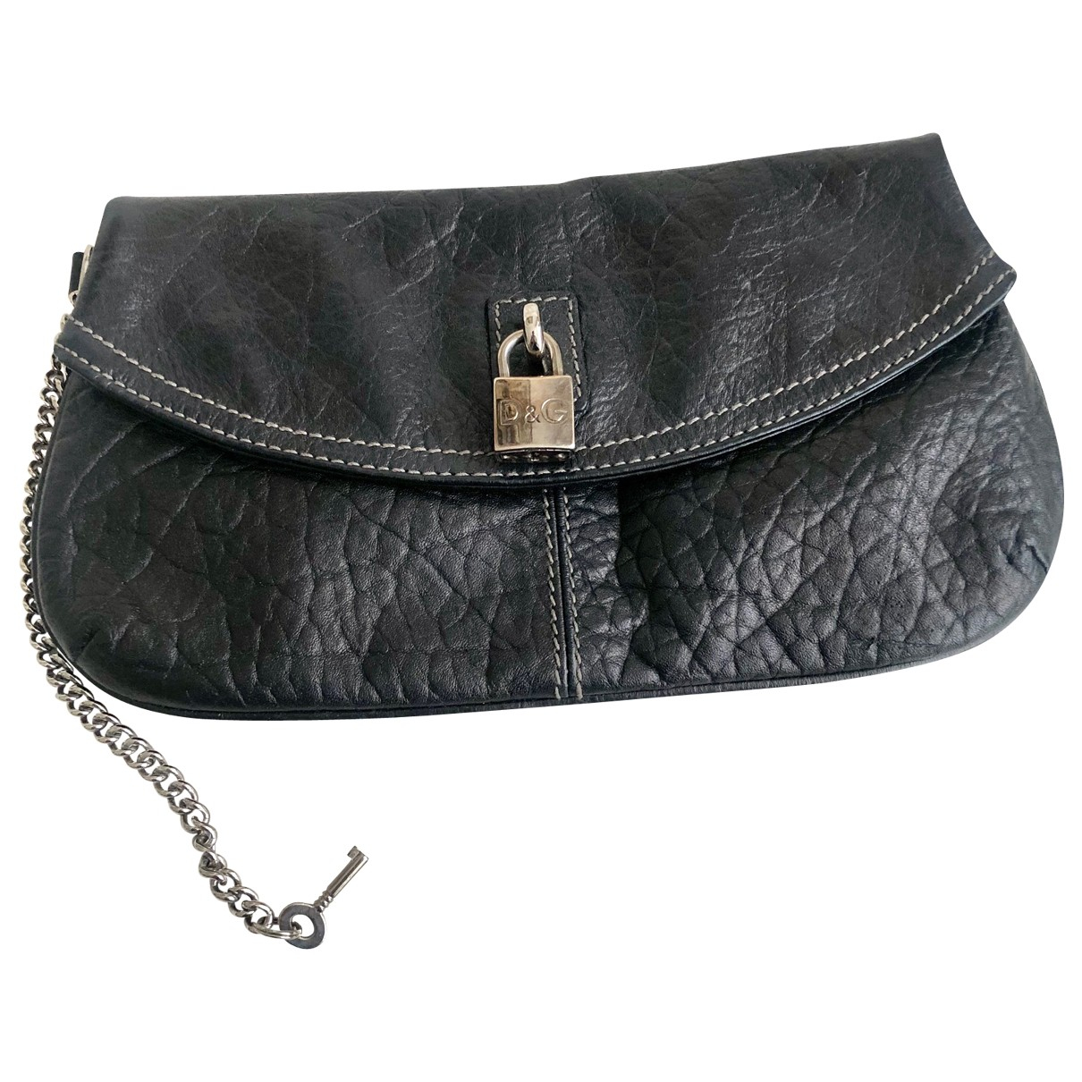 D&g \N Clutch in  Schwarz Leder