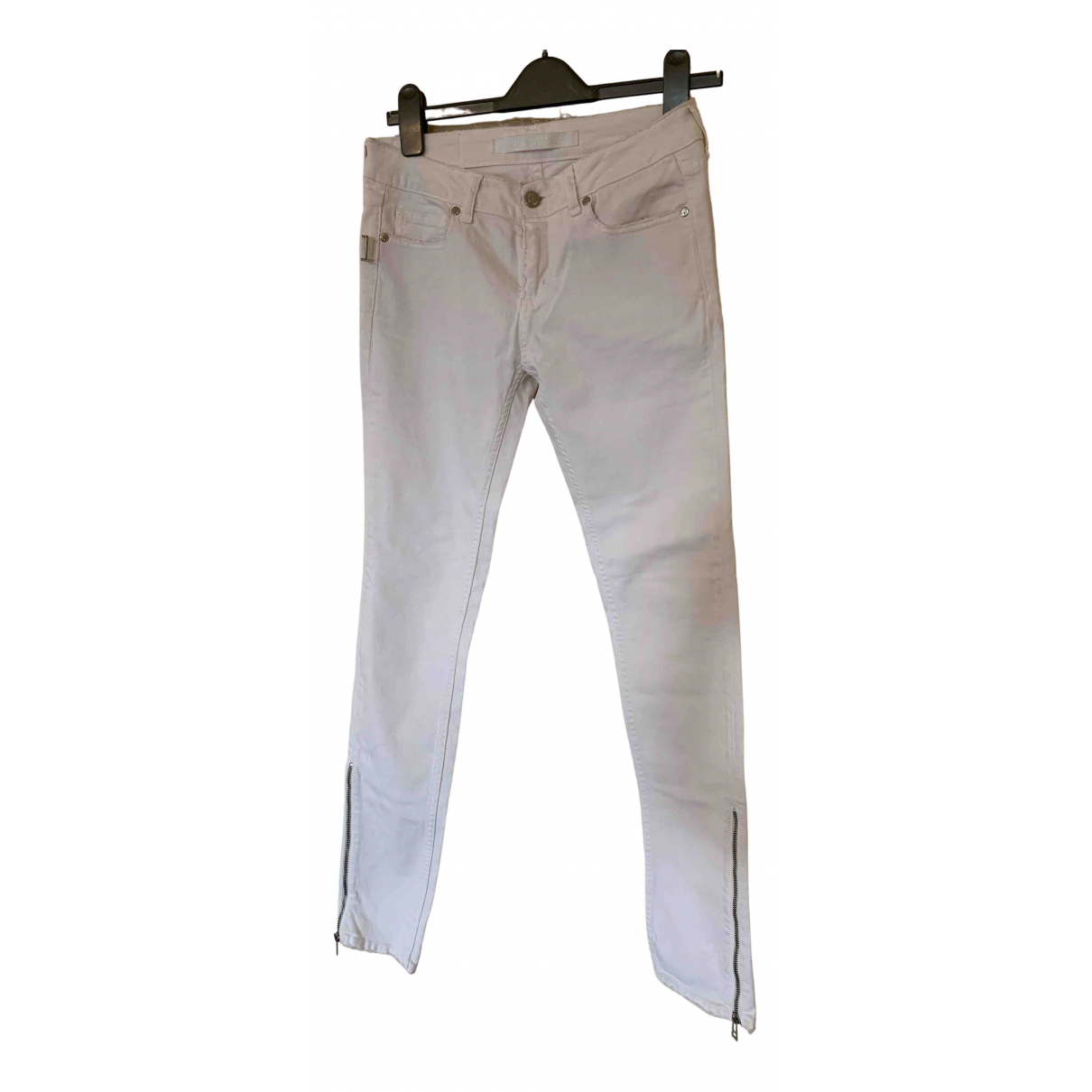 Zadig & Voltaire Spring Summer 2020 White Cotton Trousers for Women 8 UK