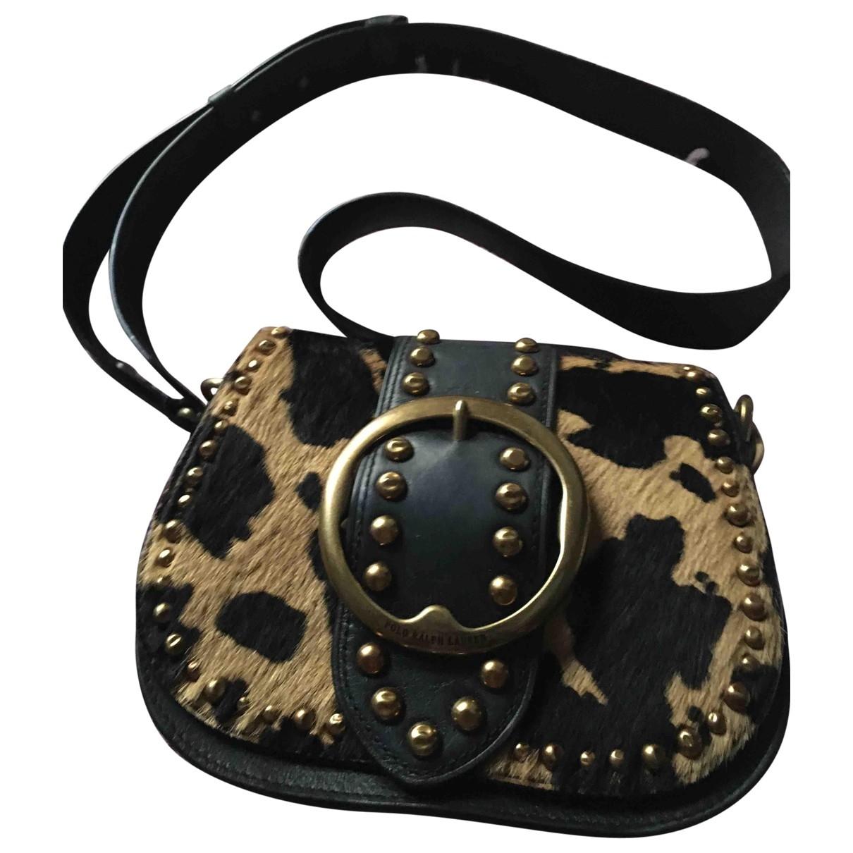 Polo Ralph Lauren \N Handtasche in  Schwarz Leder