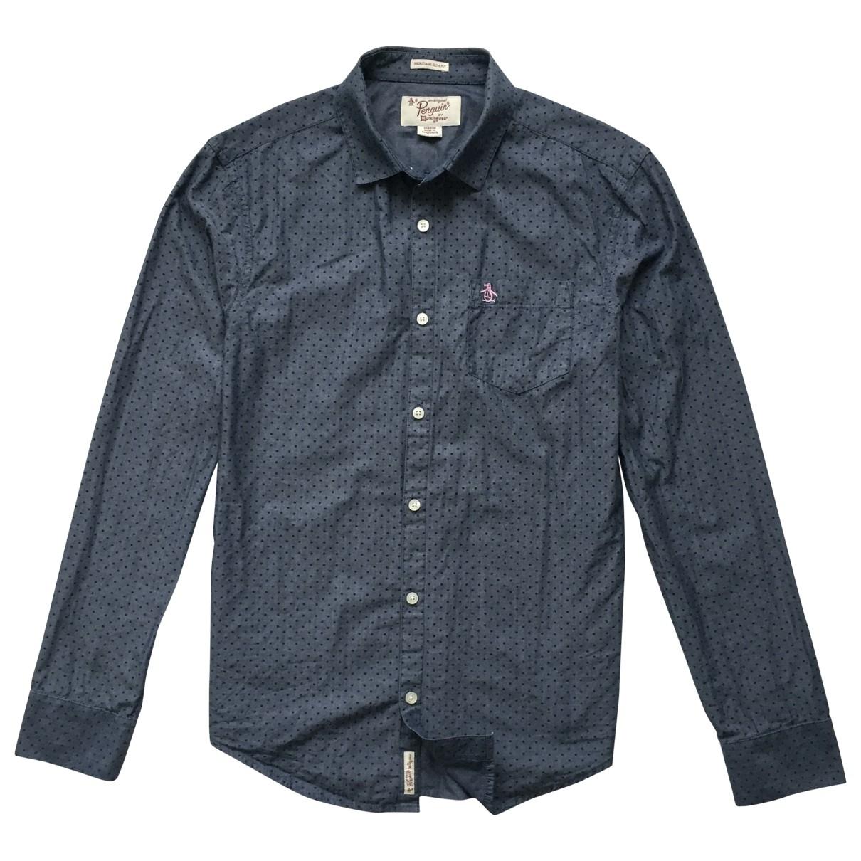 Original Penguin \N Hemden in  Blau Baumwolle