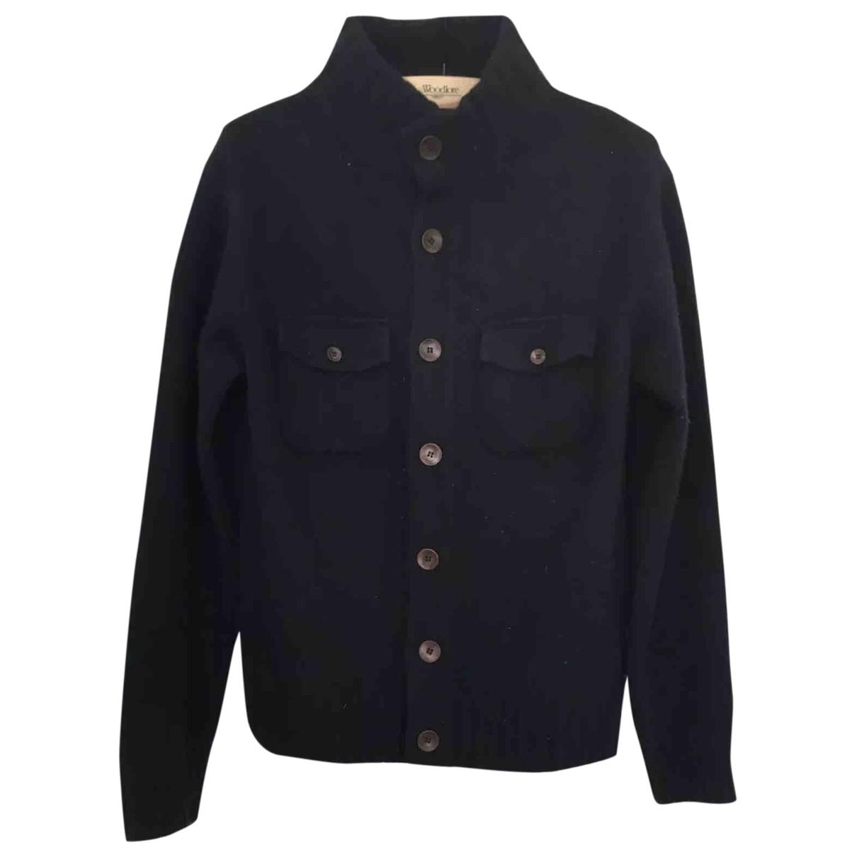 Hackett London \N Pullover.Westen.Sweatshirts  in  Marine Wolle