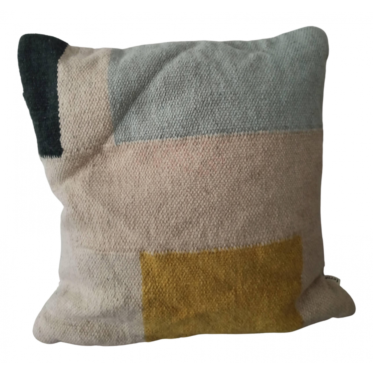 Ferm Living \N Yellow Wool Textiles for Life & Living \N