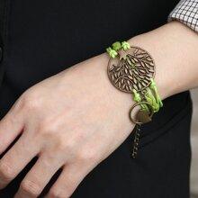 Metall Armband mit Baum Dekor