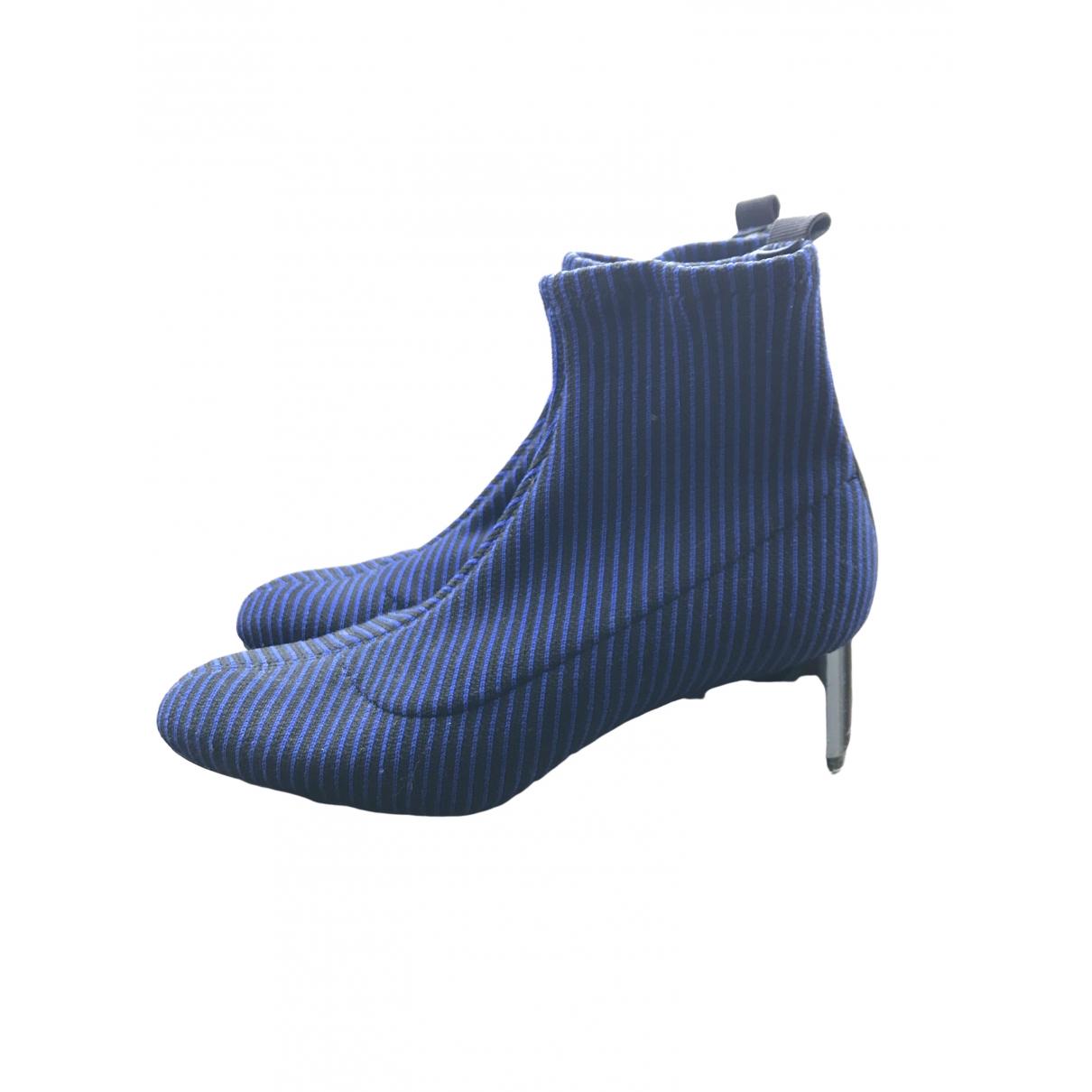Zara \N Stiefel in  Blau Leinen