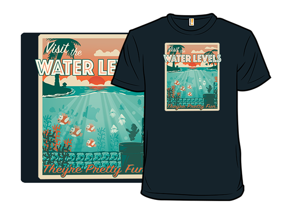 Visit The Water Levels T Shirt