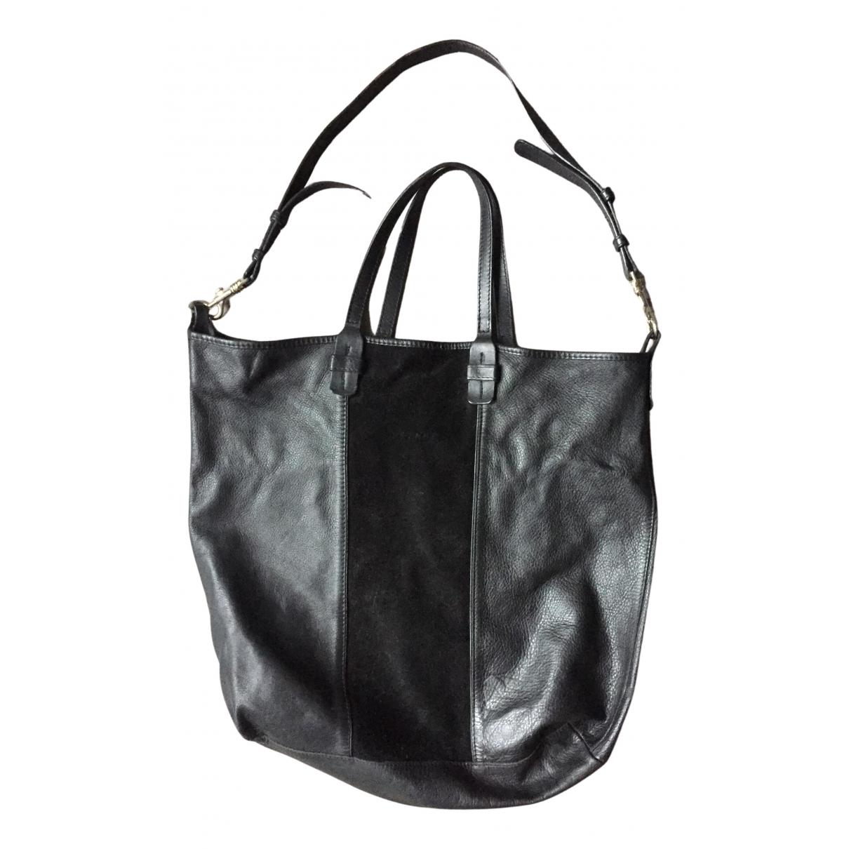 Sezane \N Handtasche in  Schwarz Leder