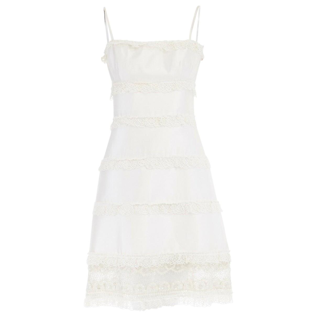 Valentino Garavani - Robe   pour femme en soie - blanc