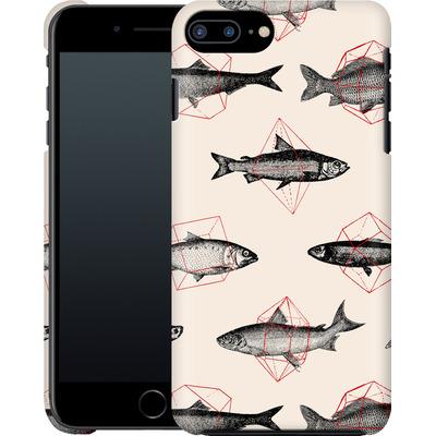 Apple iPhone 8 Plus Smartphone Huelle - Fishes in Geometrics von Florent Bodart