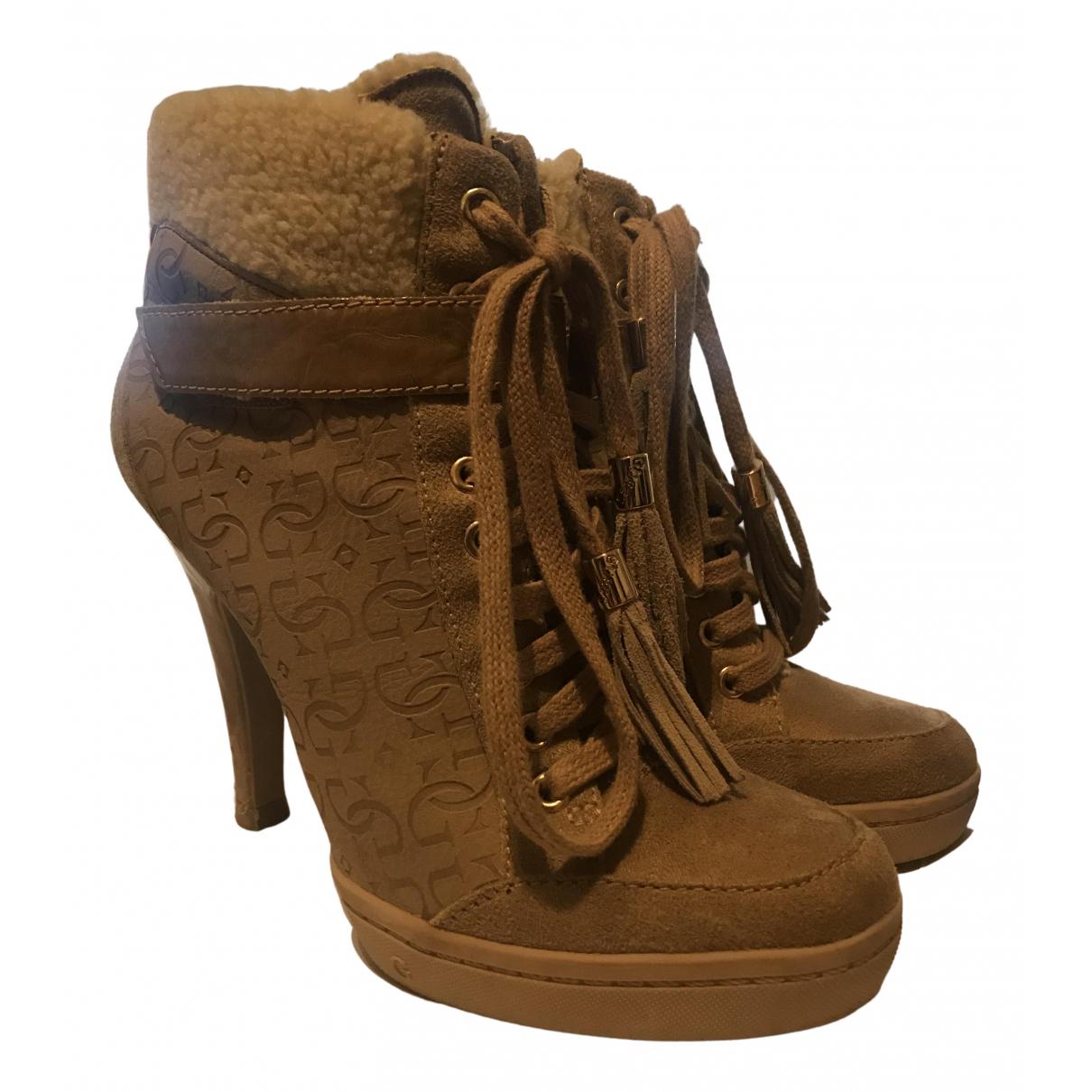 Guess - Boots   pour femme en suede - beige