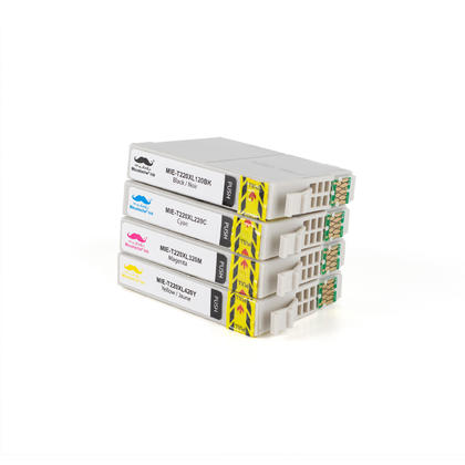 Compatible Epson Expression XP-420 Ink Cartridges BK/C/M/Y High Yield - Moustache