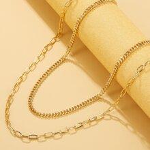 2 Stuecke Halskette mit Kette
