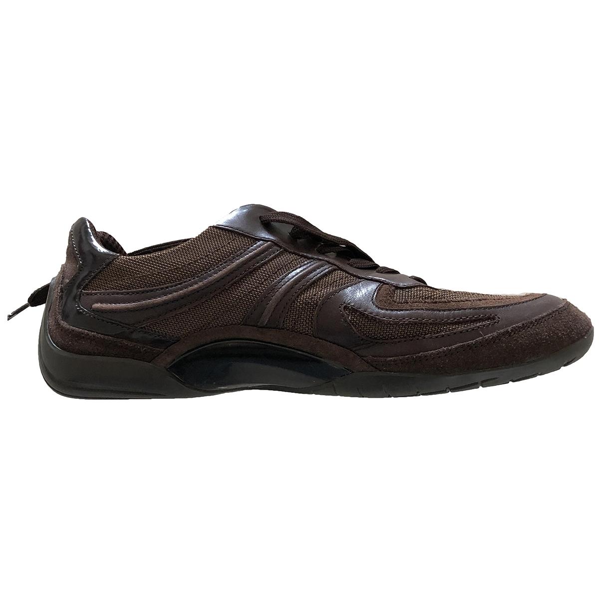Boss \N Sneakers in  Braun Leinen