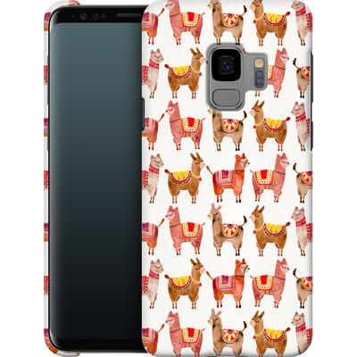 Samsung Galaxy S9 Smartphone Huelle - Alpacas von Cat Coquillette