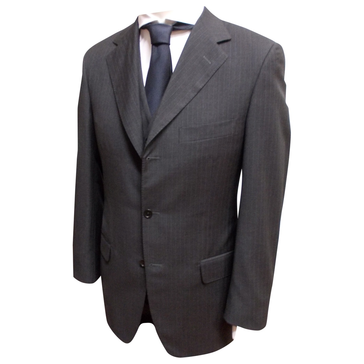 Non Signé / Unsigned \N Grey Wool Suits for Men 48 IT