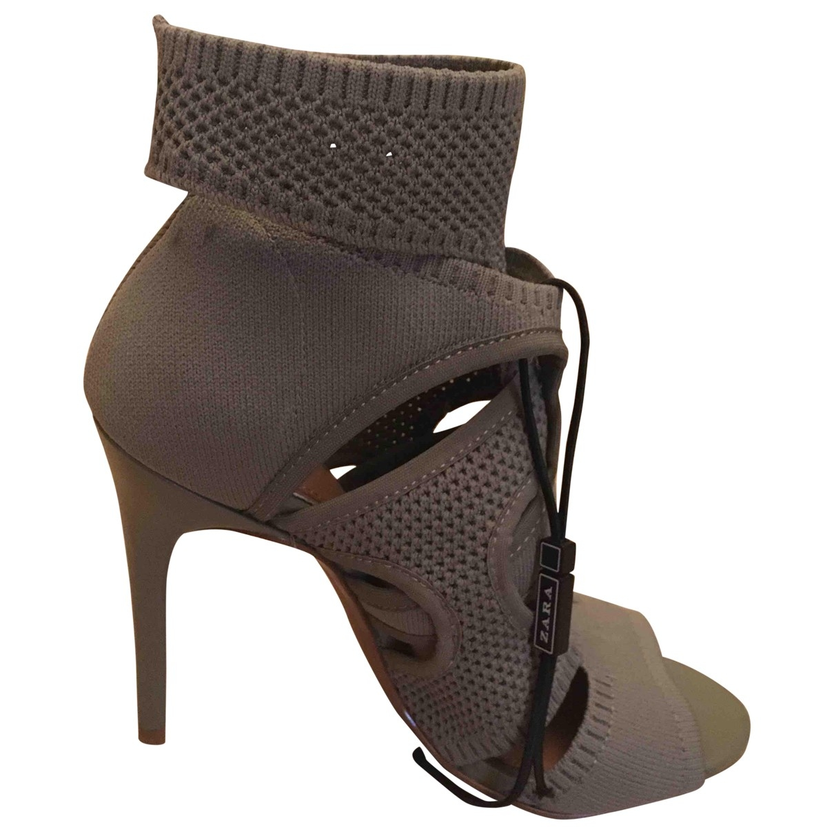 Zara - Sandales   pour femme - kaki
