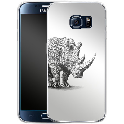 Samsung Galaxy S6 Silikon Handyhuelle - Rhinoceros von BIOWORKZ