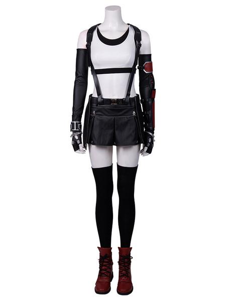 Milanoo Final Fantasy Cosplay Costumes Tifa Lockhart Cotton Outfit FF 7 Remake Cosplay Set (no Shoes)
