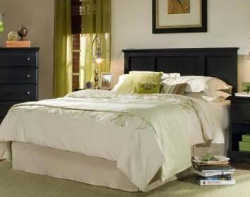 Midnight Collection 437450-982000-79091 Queen Size Panel Bed with Panel Headboard and Metal Bed Frame in