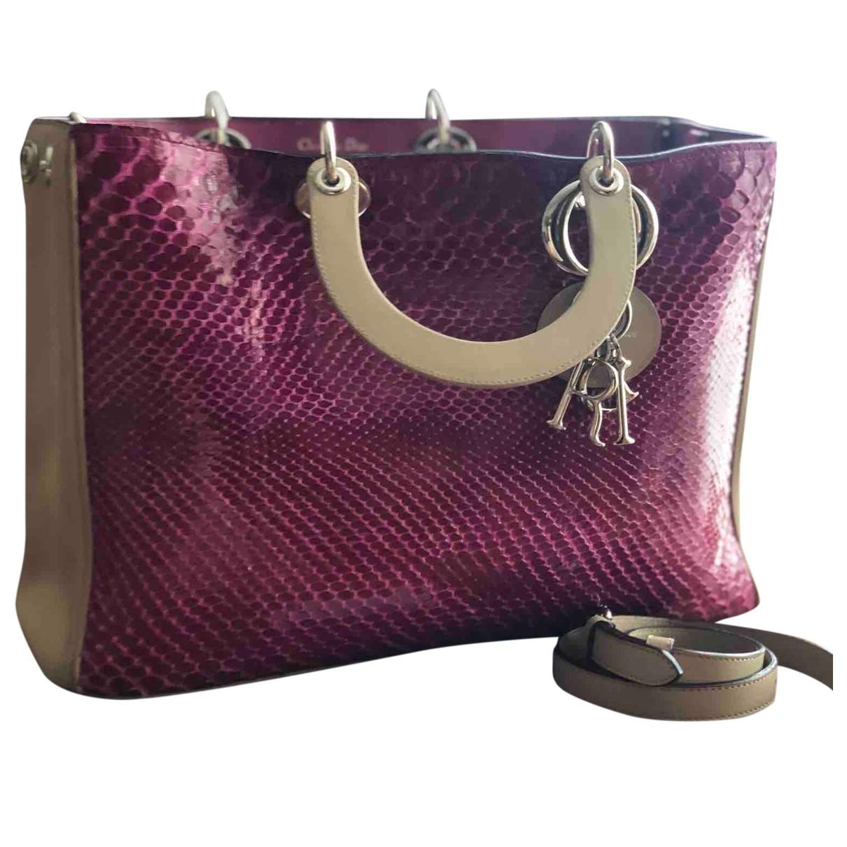 Dior Diorissimo Handtasche in  Lila Python