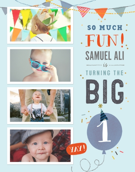 Baby + Kids 11x14 Poster(s), Board, Home Décor -So Much Fun Turning One