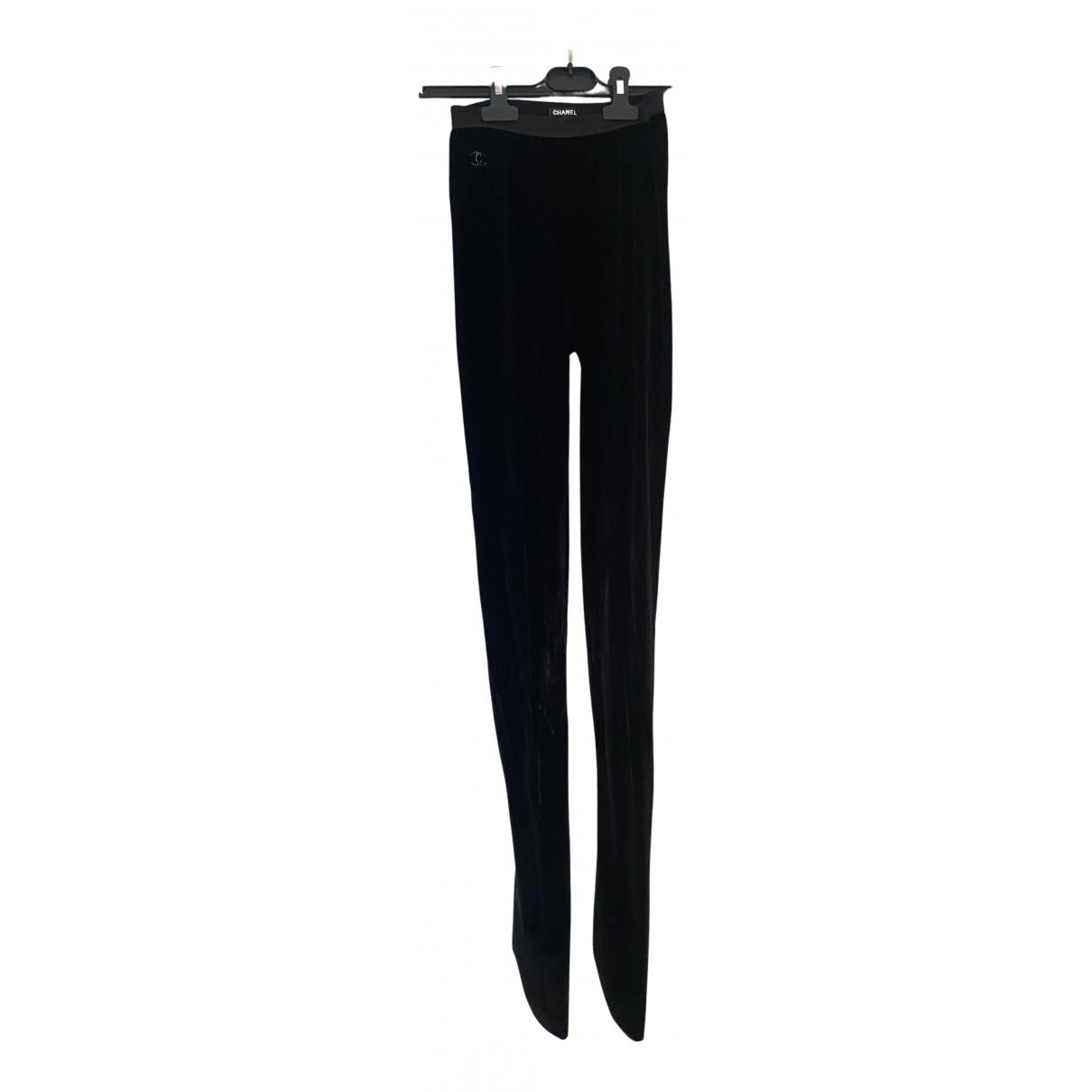 Chanel N Black Velvet Trousers for Women 2 0-5