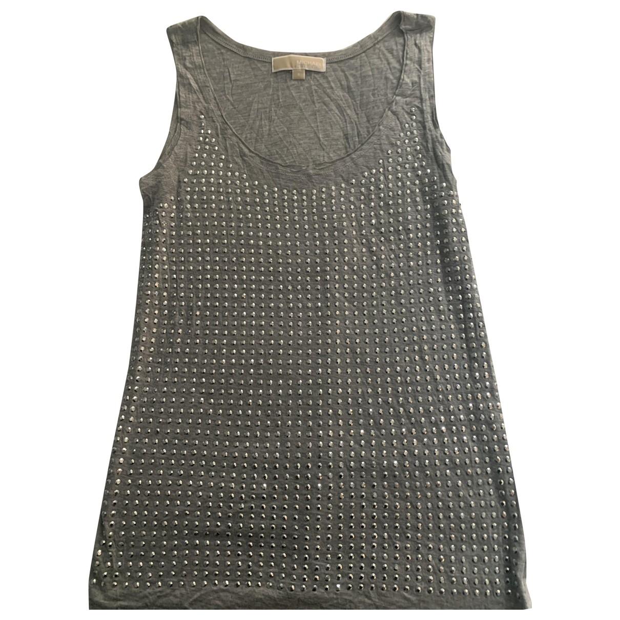 Michael Kors - Top   pour femme en coton - gris