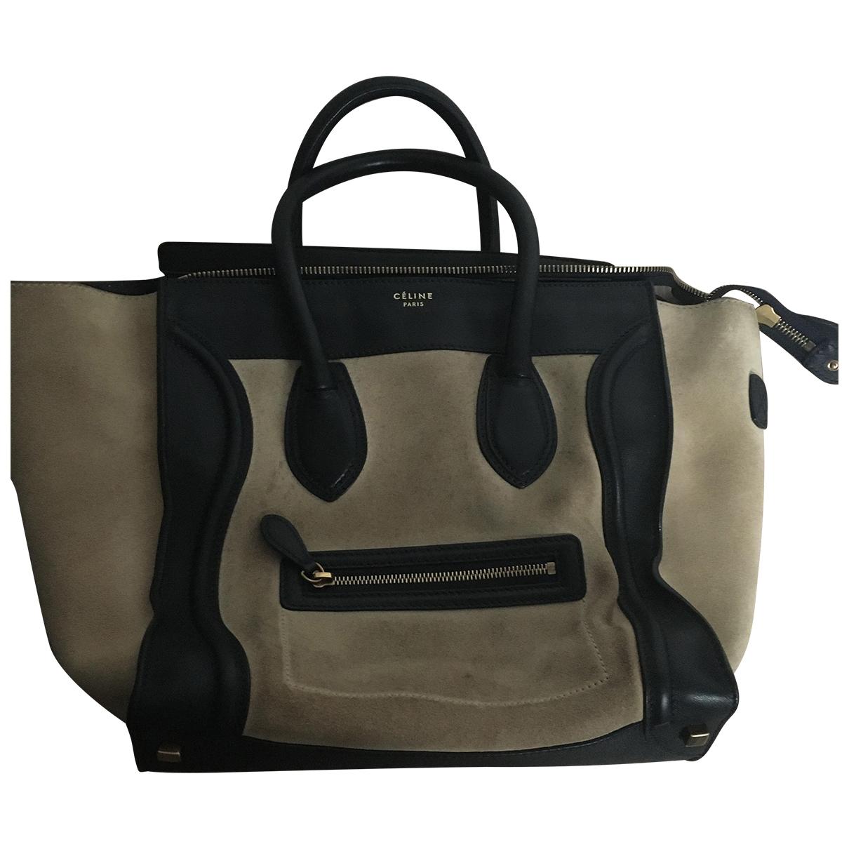 Celine Luggage Beige Suede handbag for Women \N