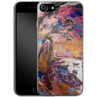 Apple iPhone 8 Silikon Handyhuelle - Brush Swirl V von Stella Lightheart