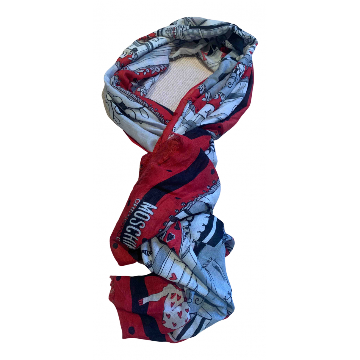 Moschino Cheap And Chic - Foulard   pour femme - rouge