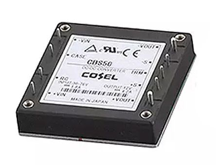 Cosel 50.4W Isolated DC-DC Converter Through Hole, Voltage in 18 → 36 V dc, Voltage out 12V dc