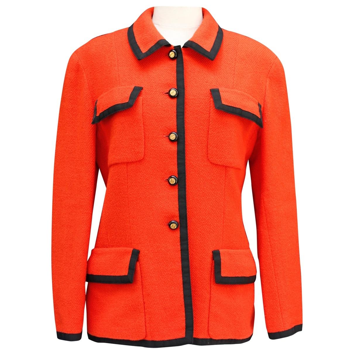 Chanel \N Orange Tweed jacket for Women 42 FR