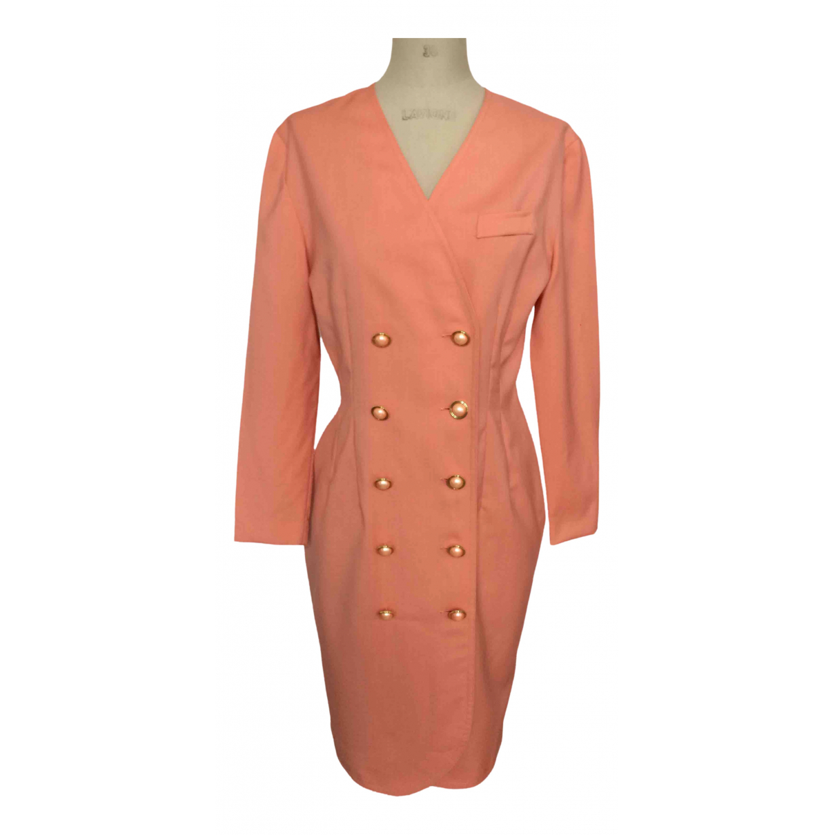 Non Signe / Unsigned \N Kleid in  Rosa Wolle