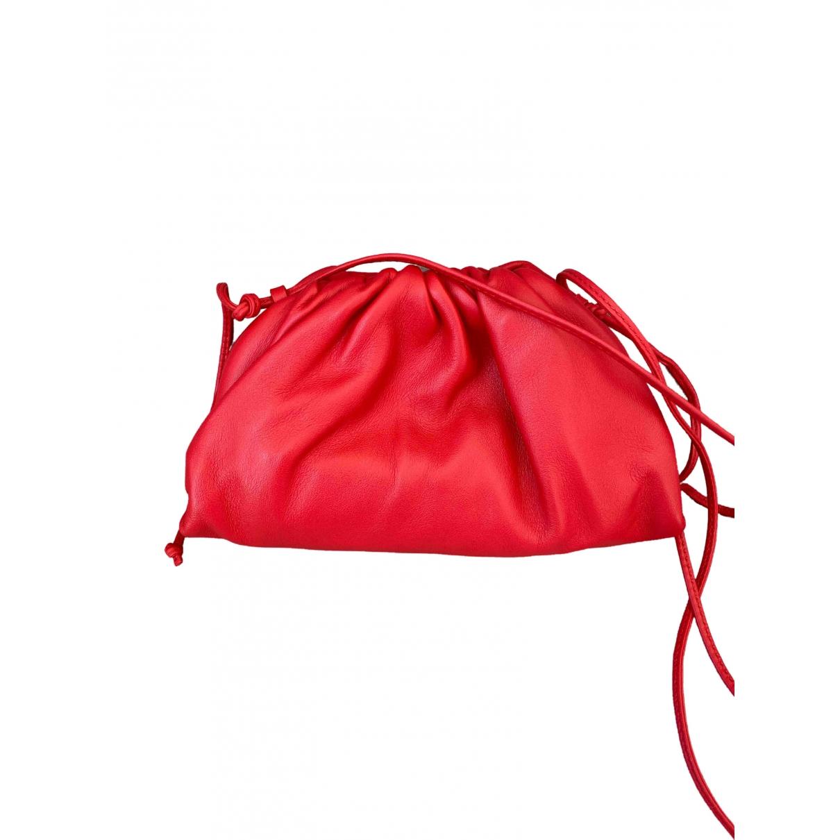 Bottega Veneta Pouch Red Leather handbag for Women \N