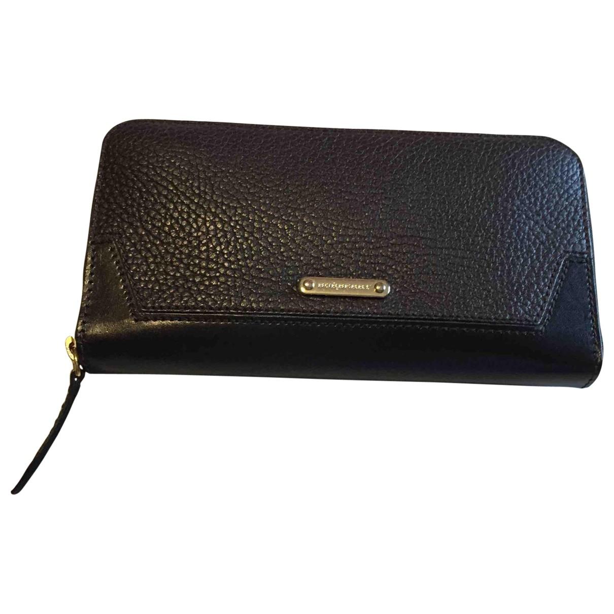 Burberry - Portefeuille   pour femme en cuir - noir