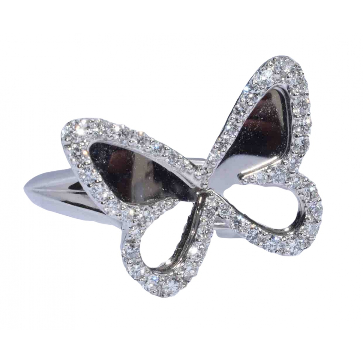 Messika Butterfly Silver White gold ring for Women 53 MM