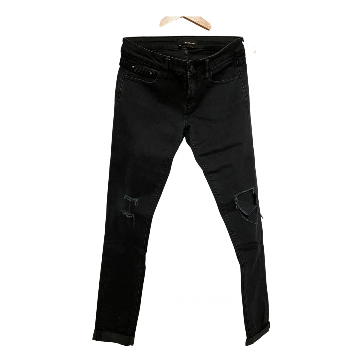 The Kooples N Blue Cotton - elasthane Jeans for Women 28 US