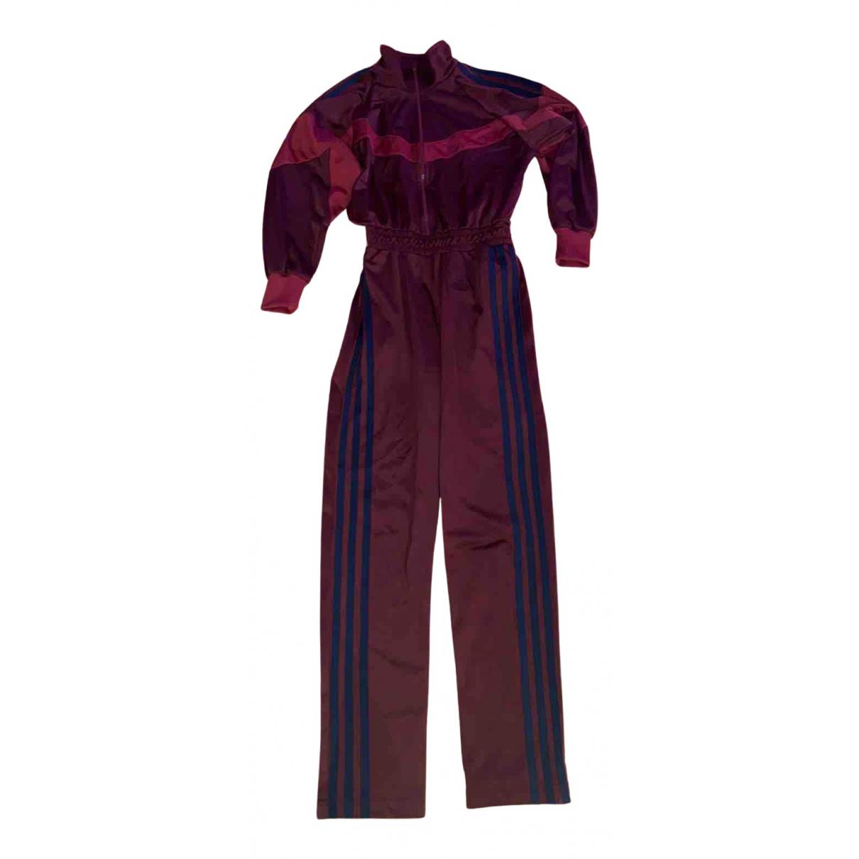 Yeezy \N Jumpsuit in  Bordeauxrot Baumwolle