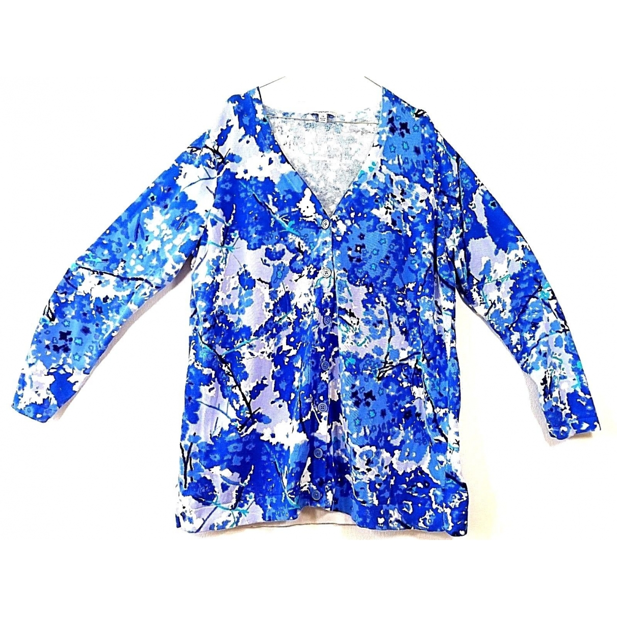 Non Signé / Unsigned \N Blue Cotton  top for Women 22 UK
